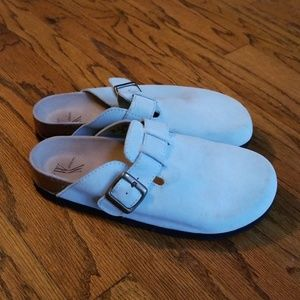 White Mountain getty clog blue 8